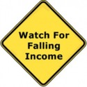 Watch for falling income