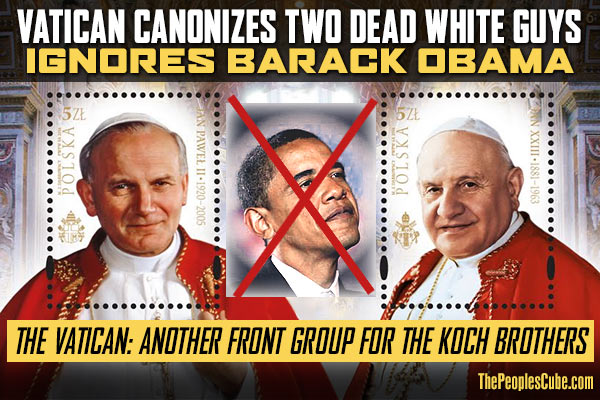 Popes_Canonized_Obama_Ignored